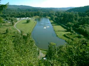 Ski Park Lake as viewed from above - Orting, WA