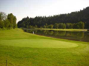 One of the golf greens at Ski Park Lake - Orting, WA